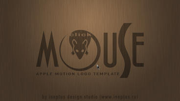 Click mouse logo pack Plantilla de Apple Motion