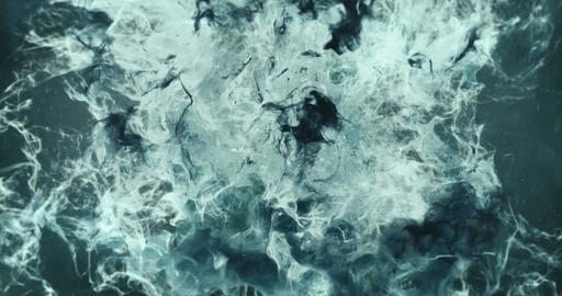 Motion Background VJ Loop - Noire Gray Particles 4k Animation