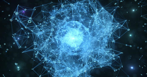 Pulsating Digital Binary Data Networks Abstract Motion Background 4k Animation