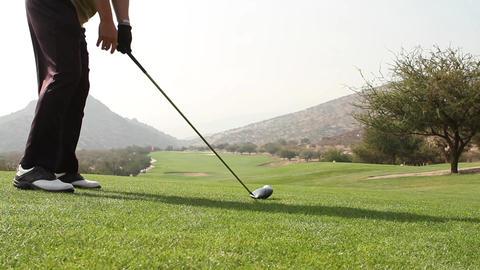 Man putting golf Footage