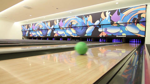 Bowling alley Footage