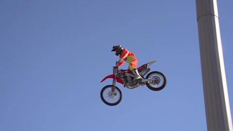Biker jumps Footage