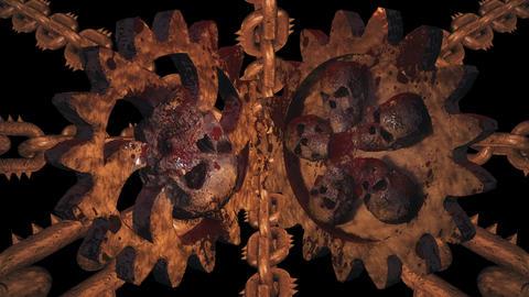 Rusty Hell Cogwheels Loop Stock Video Footage