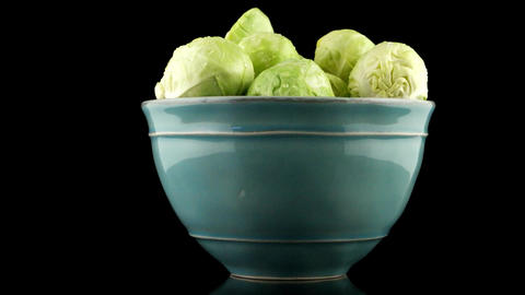 Fresh brussels sprouts Footage