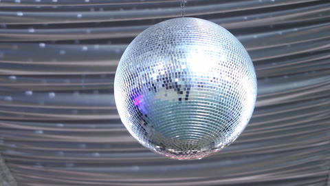 Close up of a disco ball spinning 3 Footage