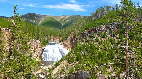 Gibbon Falls in Yellowstone Footage