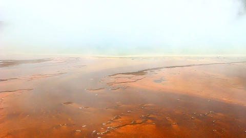 Steam from Grand Prismatic Spring Footage