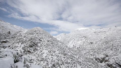 Snowy mountain range Footage