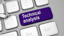 Technical analysis online concept Footage