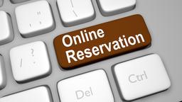 Online Reservation keyboard key animation Live Action