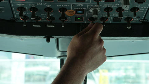 Aircraft cabin switch Live Action