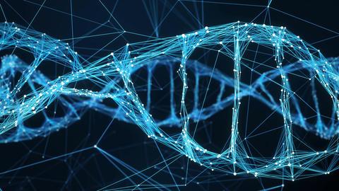 Abstract Motion Background - Digital Plexus DNA molecule 4k Loop Animación