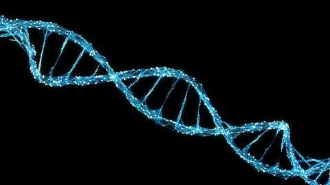 Abstract Motion Background - Digital Plexus DNA molecule 4k Loop Alpha Matte Animation