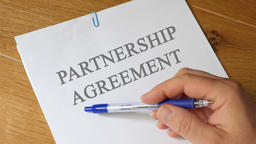 Partnership Agreement Concept Footage