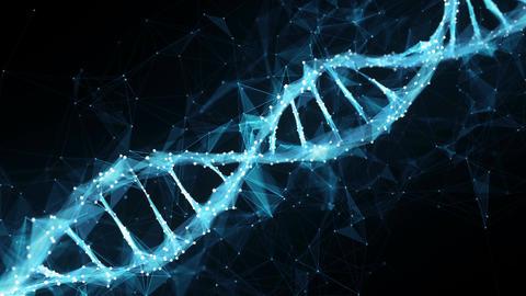 Motion Background Digital Polygon Plexus DNA molecule 4k Loop Animation