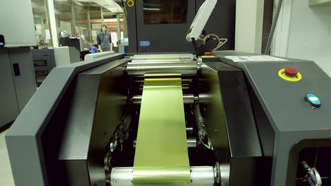 Golden tape in machinery Footage