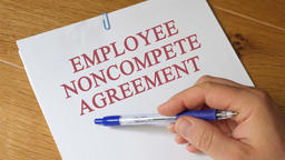 Review of Employee Noncompete Agreement Concept Footage