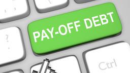 Pay off debt keyboard key animation Footage