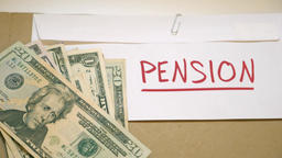 PENSION costs concept Footage