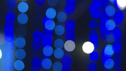 Defocused and blur image of blue led lights ビデオ