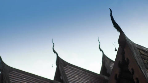 Temples Roof of Lanna style in Chiang Mai, Thailand Footage