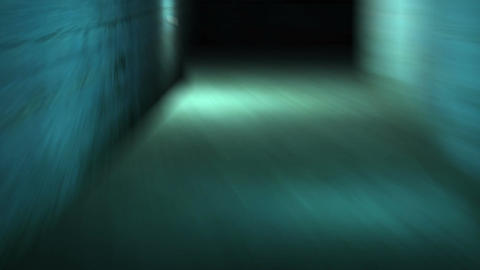 walking in spooky and scary with low light dirty interior... Stock Video Footage