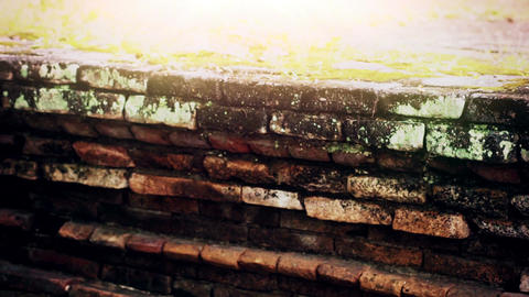 An Ancient Brick Wall Footage