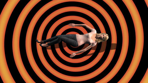 3d rendering animation - Vertigo Falling female Animation