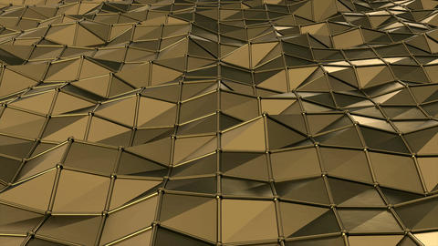 Golden Polygons Moving Background Animation