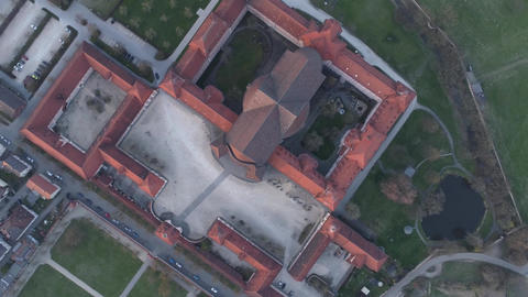 Wiblingen Kloster Abbey With Drone At Sunrise From The Top Footage