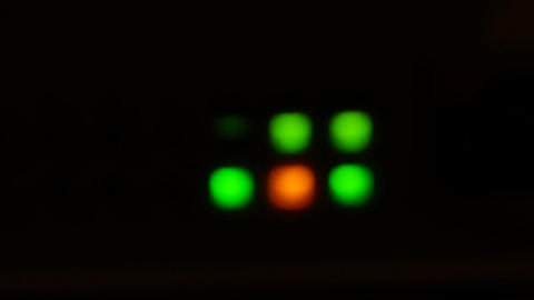 Defocused Lights Of Modern Working Data Servers With Cables And Flashing LED Lig Footage