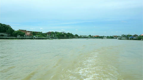 Chao Phraya waterfront view in Thailand Filmmaterial