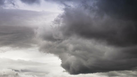 Time Lapse, Massive Storm Clouds Footage