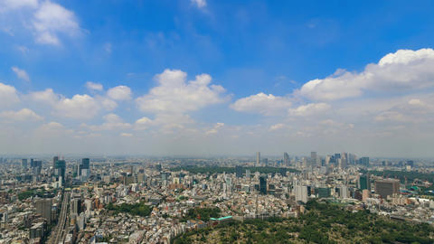 Walk in the air (Blue sky & cloud shape at Tokyo city) ビデオ