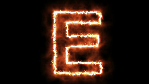hot burning letter on black background Animation