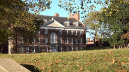 USA New York City Governors Island former military building in park Footage