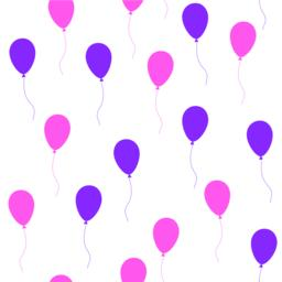 Seamless pattern with balloons Vektorgrafik