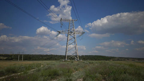Power pylons. Electrical power lines Image