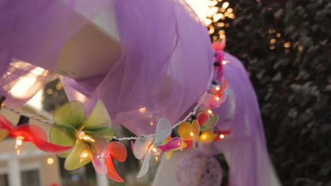 Holiday flower shape light party decoration 画像