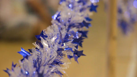 Holiday blue and white party decoration ビデオ