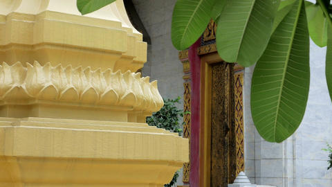 An ubosot in buddhist temple in thailand Image