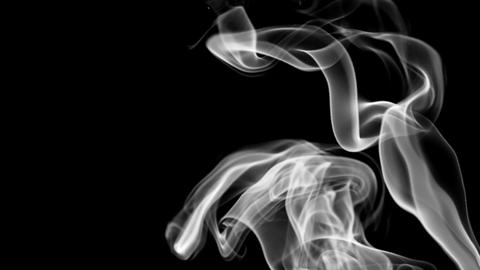 Abstract background with white smoke. 3d rendering seamless loop Animación
