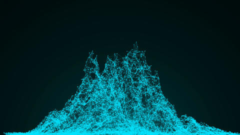 [alt video] Wireframe mountain. Abstract background digital...