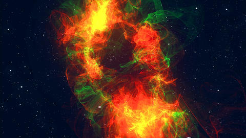 Colorful space background. Glowing galaxy. 3d rendered Animation