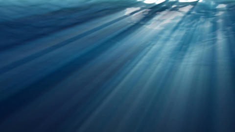 High quality Looping animation of ocean waves from realistic underwater. Light r Animation