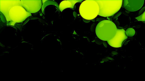 Glowing Spheres Loop Animation