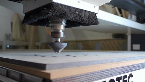 Cnc drill during work Footage