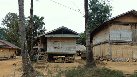 Traditional rural wooden house Footage