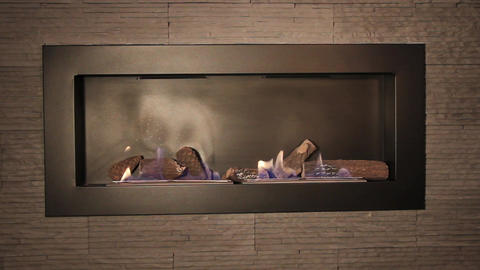 Interior fireplace Footage