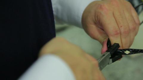Adjusting glasses frame Footage